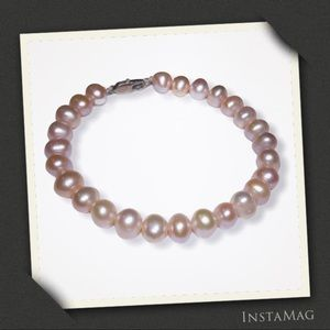 PINK OVAL CULTURED FRESHWATER PEARL Bracelet